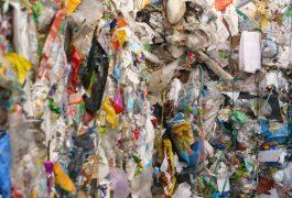 Kostki śmieci w sortowni odpadów. Fot. Krzysztof Skłodowski