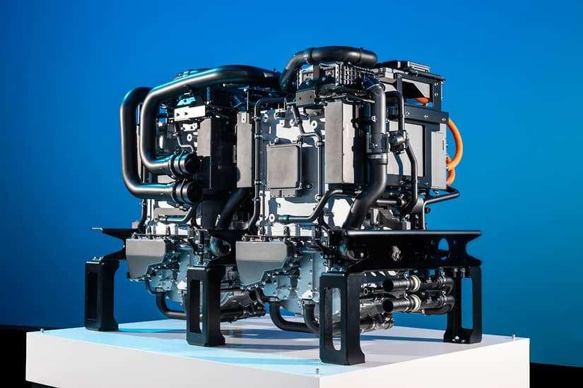 Mercedes GENH2 silnik. Fot. Mercedes-Benz Trucks