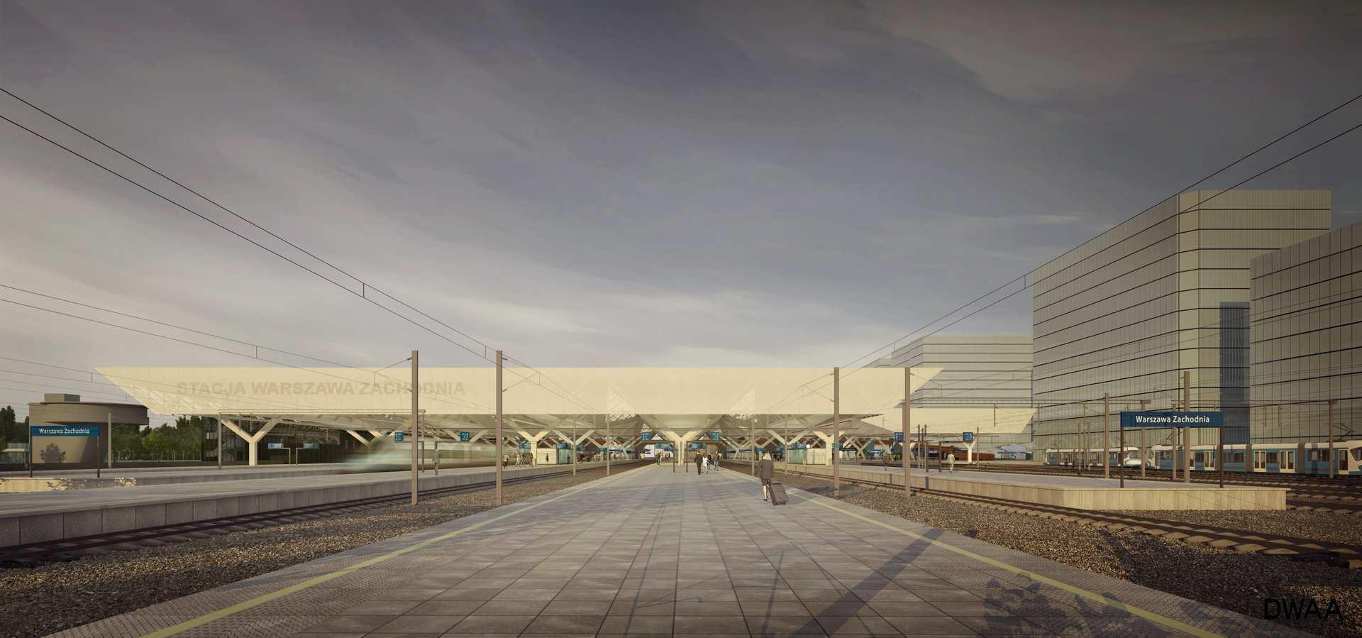 Dworzec Zachodni w Warszawie, wizualizacja