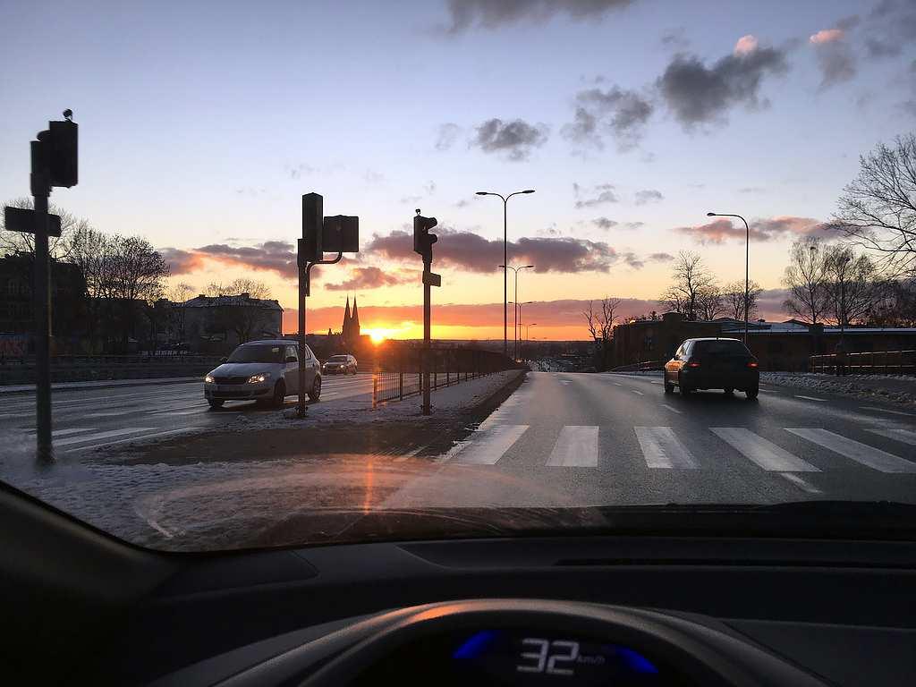 Zachód Słońca w Olsztynie